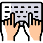 Transcription Typing Icon